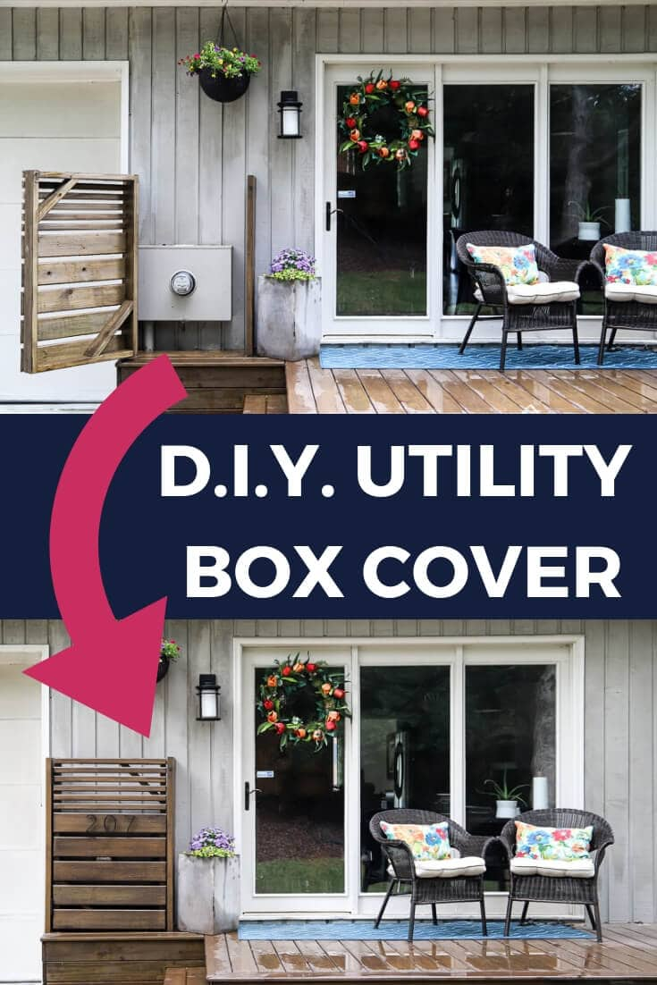 Diy Utility Box Cover With Door