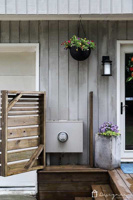 diy utility box cover with door