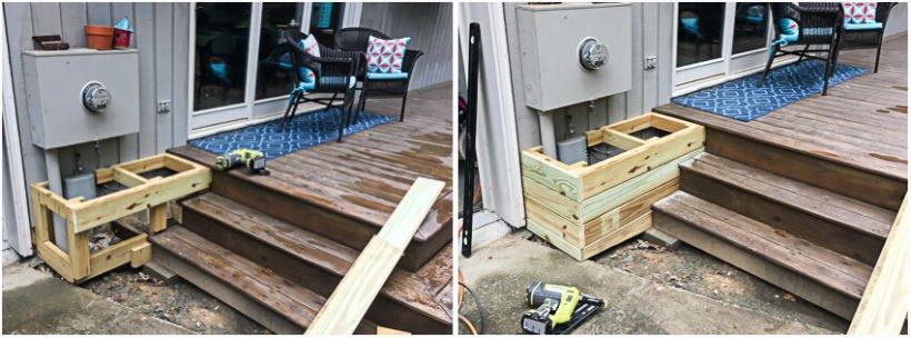 diy utility box cover building process