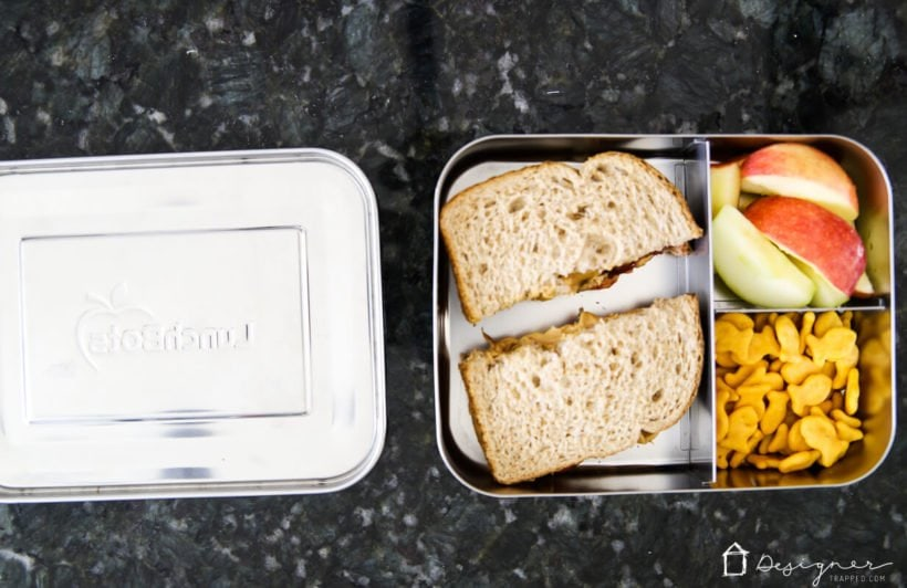 lunchbots 3 compartment packed lunch container