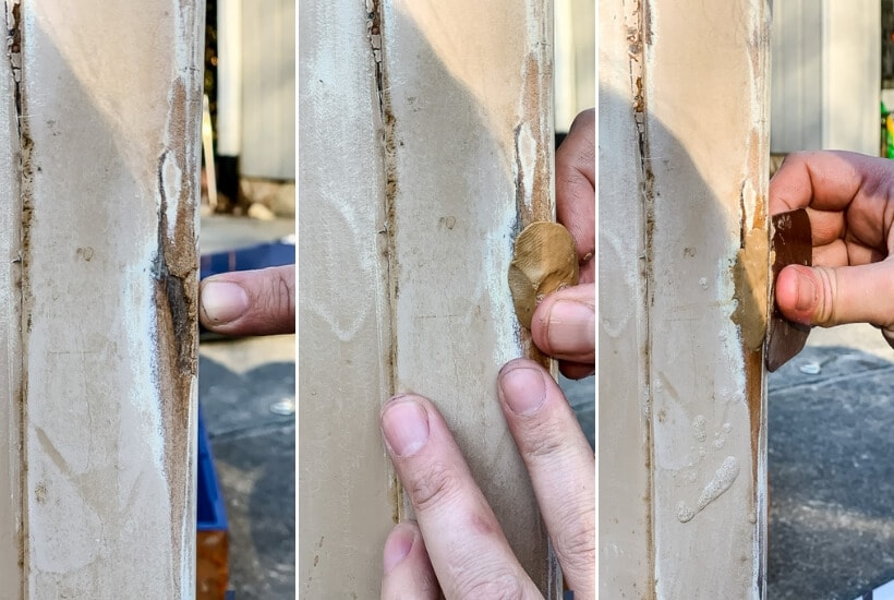 wood repair with putty